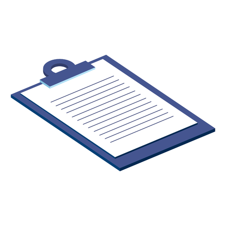 Illustration pour checklist clipboard isolated icon vector illustration design - image libre de droit