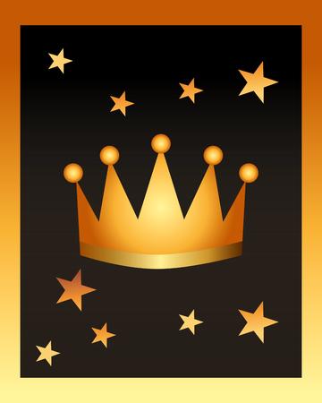 Illustration for movie awards crown stars backgroud vector illustration - Royalty Free Image