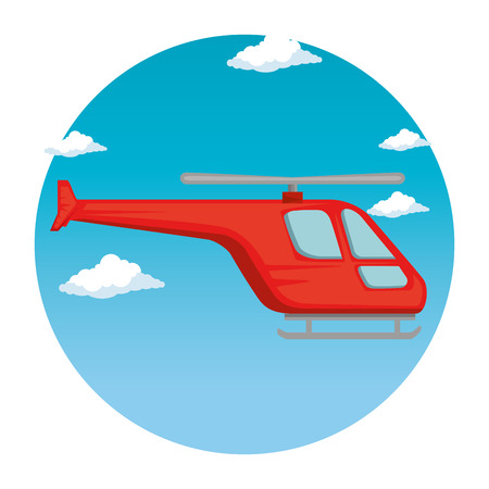 Illustration pour helicopter flying transport icon vector illustration design - image libre de droit