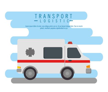 Ilustración de ambulance vehicle transport icon vector illustration design - Imagen libre de derechos