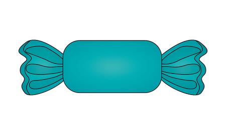 Ilustración de sweet wrapped candy on white background vector illustration - Imagen libre de derechos