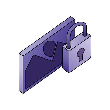 Illustration pour data network image picture security protection vector illustration - image libre de droit