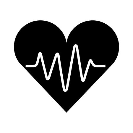 Illustration pour medical heart silhouette isolated icon vector illustration design - image libre de droit