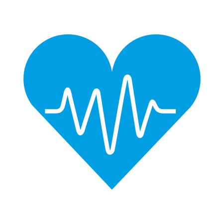 Ilustración de medical heart beat pulse rhythm cardio vector illustration - Imagen libre de derechos