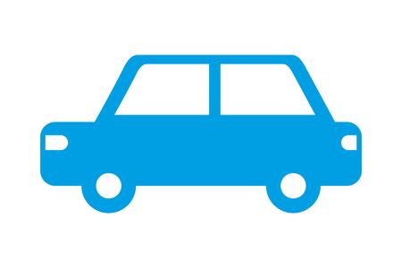Illustration pour car vehicle transport pictogram isolated image vector illustration - image libre de droit