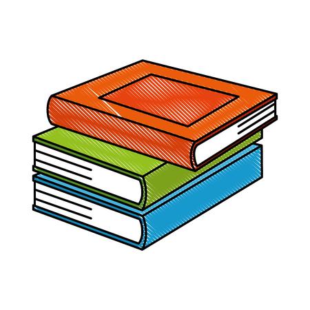 Illustration pour pile text books isolated icon vector illustration design - image libre de droit