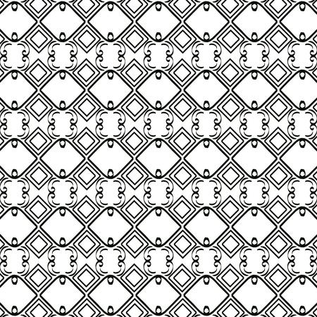 Ilustración de geometrics figures in grey pattern vector illustration design - Imagen libre de derechos