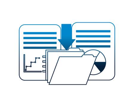 Ilustración de download data folder file document report information vector illustration - Imagen libre de derechos