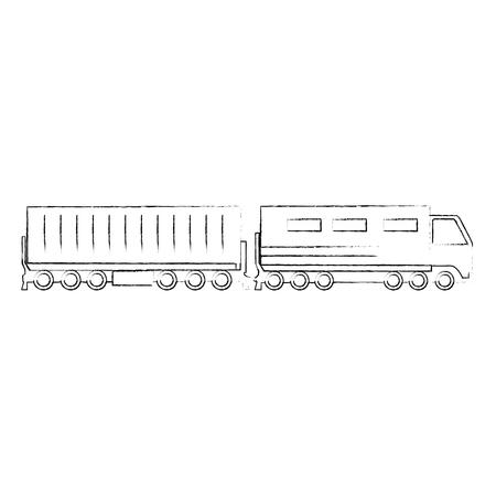 Illustration pour cargo train logistic service vector illustration design - image libre de droit
