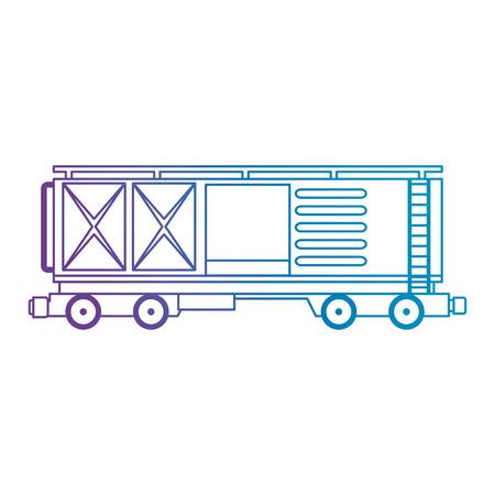 Illustration pour freight train wagon logistic service vector illustration design - image libre de droit