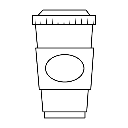 Illustration for coffee drink in plastic container vector illustration design - Royalty Free Image