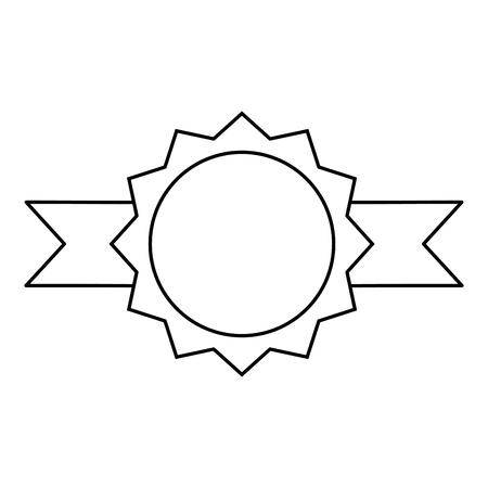 Illustration pour seal with ribbon icon vector illustration design - image libre de droit
