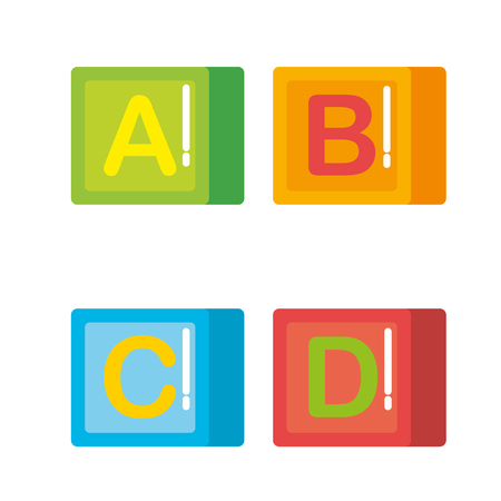 Illustration for blocks with alphabet toys vector illustration design - Royalty Free Image