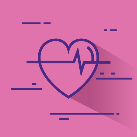 Ilustración de heart cardio healthy icon vector illustration design - Imagen libre de derechos
