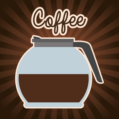 Illustration for delicious coffee in teapot vector illustration design - Royalty Free Image