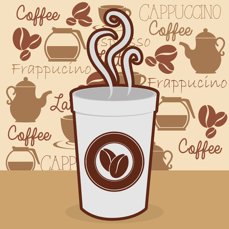 Illustration for delicious coffee in cup plastic vector illustration design - Royalty Free Image