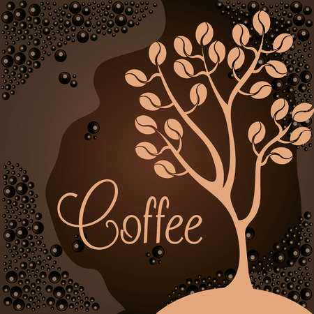 Illustration for delicious coffee plant poster vector illustration design - Royalty Free Image