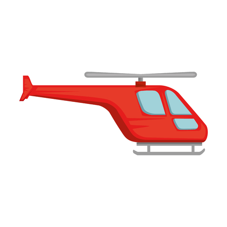 Illustration pour helicopter flying isolated icon vector illustration design - image libre de droit