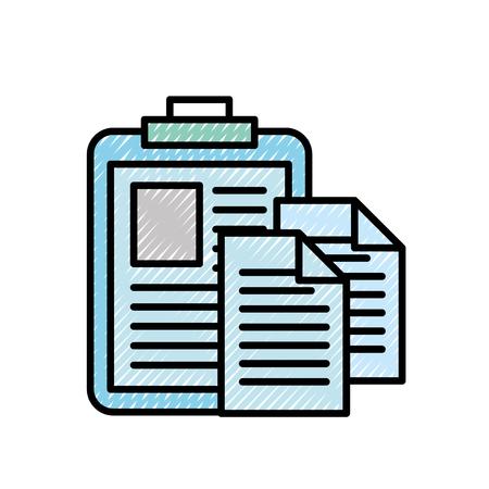 Illustration pour clipboard medical report document papers vector illustration - image libre de droit