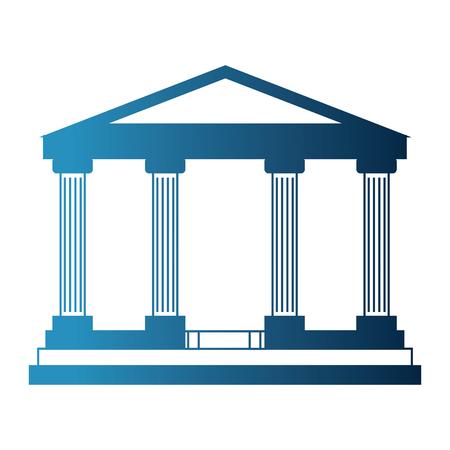 Illustration pour bank building isolated icon vector illustration design - image libre de droit