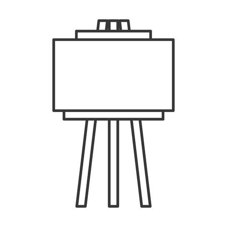 Ilustración de empty board tripod artistic tool vector illustration thin line - Imagen libre de derechos