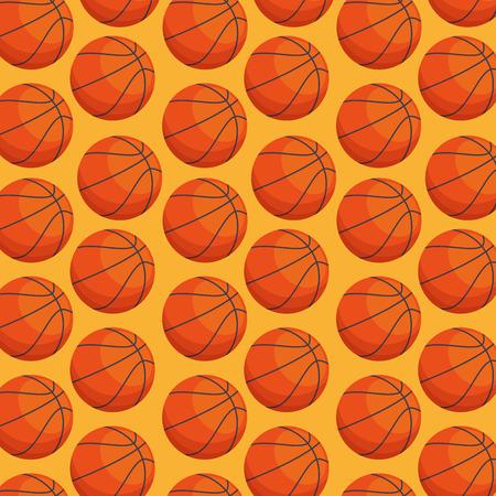 Ilustración de basketball balloon sport pattern vector illustration design - Imagen libre de derechos