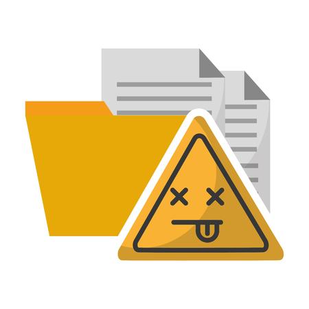 Illustration pour data protection error problem files vector illustration - image libre de droit