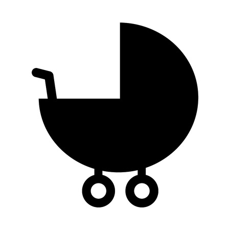 Illustration pour baby pram accessory pictogram icon vector illustration - image libre de droit