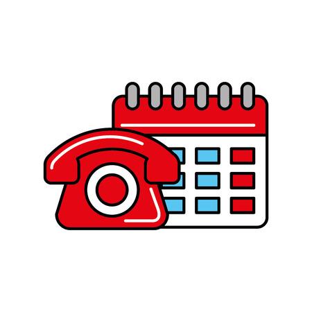 Illustration pour telephone calendar online shopping logistic vector illustration - image libre de droit