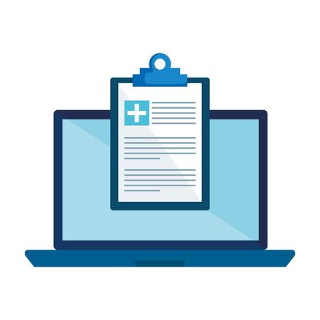 Illustration for laptop with medical order vector illustration design - Royalty Free Image