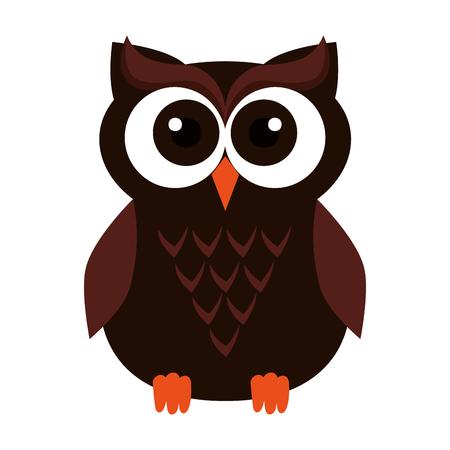 Illustration for happy halloween owl icon vector illustration design - Royalty Free Image