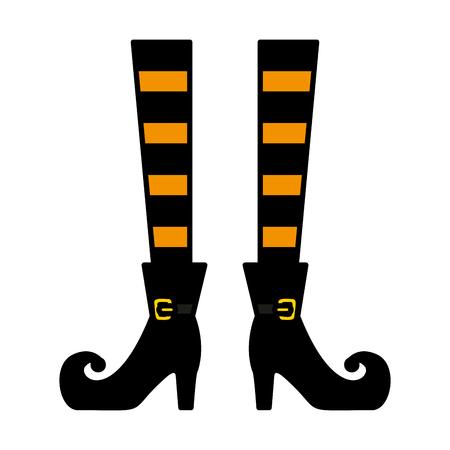 Ilustración de halloween witch legs icon vector illustration design - Imagen libre de derechos