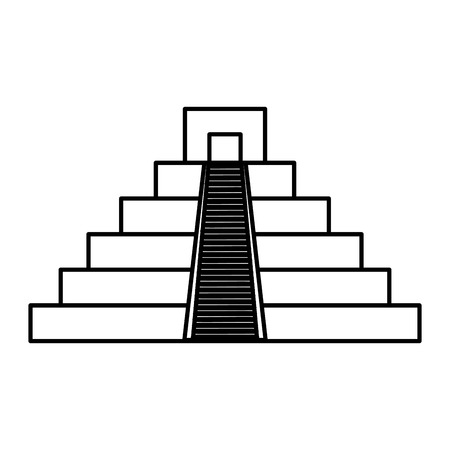 Illustration for mayan culture pyramid icon vector illustration design - Royalty Free Image
