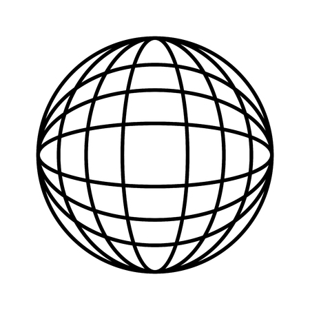 Illustration pour globe world trade connection international vector illustration outline - image libre de droit
