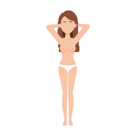 Illustrazione per sexy woman with naked torso vector illustration design - Immagini Royalty Free