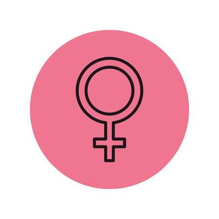 Ilustración de femenine gender symbol icon vector illustration design - Imagen libre de derechos