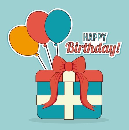 Illustration pour Birthday design over blue background, vector illustration - image libre de droit