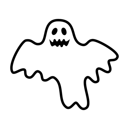 Ilustración de happy halloween ghost character vector illustration design - Imagen libre de derechos