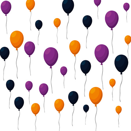Illustration pour balloons helium floating pattern vector illustration design - image libre de droit