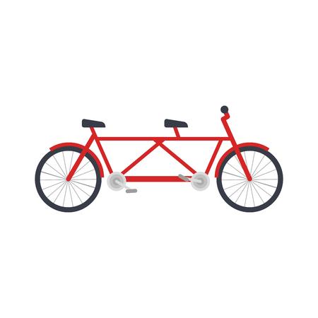Ilustración de tandem bicycle vehicle icon vector illustration design - Imagen libre de derechos