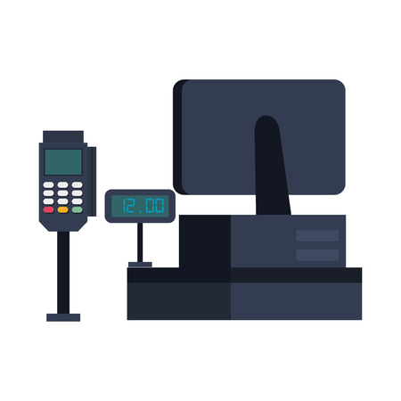 Illustration pour supermarket sale point machine vector illustration design - image libre de droit