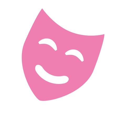 Ilustración de pink mask comedy theater isolated design vector illustration - Imagen libre de derechos