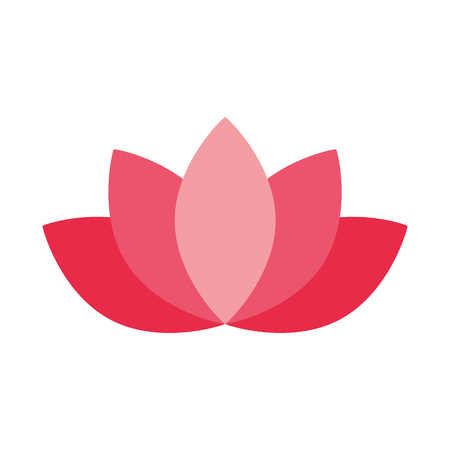 Illustration for lotus flower decoration on white background vector illustration - Royalty Free Image