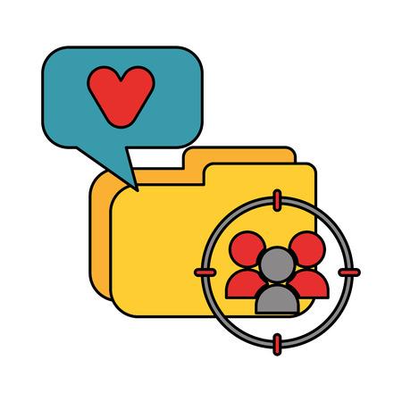 Illustration pour folder file speech bubble data technology vector illustration - image libre de droit