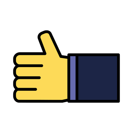 Illustration pour hand like thumb up on white background vector illustration - image libre de droit