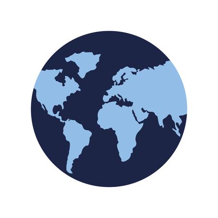 Illustration for globe map world on white background vector illustration - Royalty Free Image
