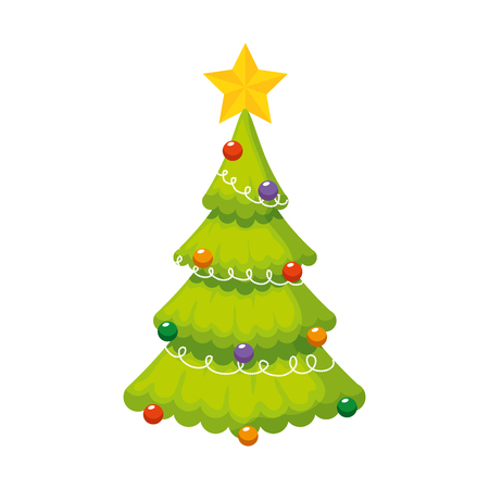 Photo for merry christmas tree icon vector illustration design - Royalty Free Image