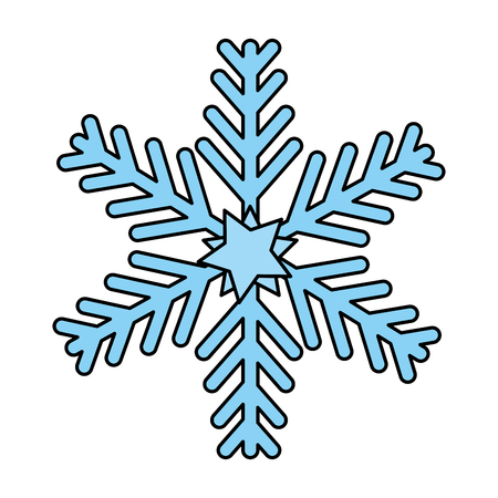 Illustration for merry christmas snowflake decorative vector illustration design - Royalty Free Image