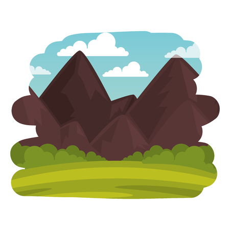 Illustration pour field landscape scene icon vector illustration design - image libre de droit