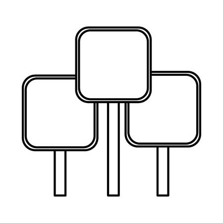 Ilustración de set of signals square vector illustration design - Imagen libre de derechos